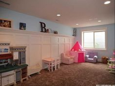 Play Room with great wainscotting