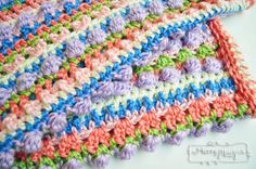 Free Crochet Pattern for a Sugary Sweet Baby Girl Blanket from My Merry Messy Life