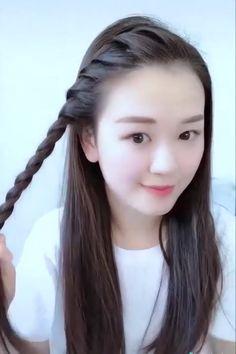 Open Hairstyles, Bun Hairstyles For Long Hair, Braids For Long Hair, Braided Hairstyles, Front Hair Styles, Medium Hair Styles, Hair Style Vedio, Long Hair Video, Hair Videos