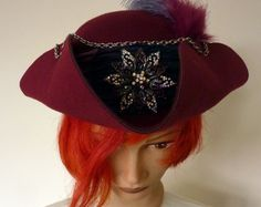 Fantasy TricornPirate hat Jack Sparrow Hat by LulunaClothing