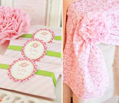 Pink Flower Baby Shower Party Favors