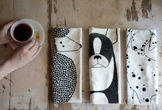 Tea Towel Bundle, 3 Dog Tea Towels, Printed with Eco Friendly Inks