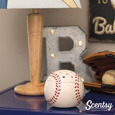 #Baseball #Scentsy Warmer Home run #coachgift #sportsfan #wicklesscandle