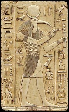 Thoth, the ancient Egyptian god of scribes...