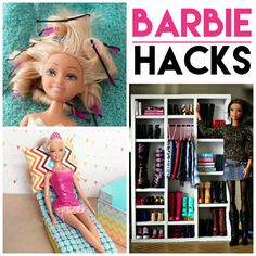 Barbie Hacks & DIY Ideas 15 Barbie Hacks and DIY'sHacking Hacking may refer to: Wine Bottle Crafts, Mason Jar Crafts, Mason Jar Diy, Barbie Doll House, Barbie Dolls, Barbie Stuff, Barbie Room, Doll Stuff, Diy Hanging Shelves