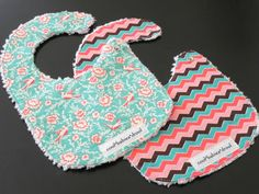 Hey, I found this really awesome Etsy listing at http://www.etsy.com/listing/126330795/modern-whimsy-baby-girl-bib-set-2-baby