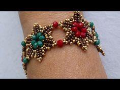Kristal Bileklik Yap m Crystal Bracelet Tutorial - video perline Diy Jewelry, Beaded Jewelry, Jewelry Design, Jewelry Making, Crystal Jewelry, Beading Patterns Free, Beading Tutorials, Diy Schmuck, Bracelet Tutorial