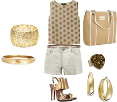 Golden Summer Chic, created by danicogs on Polyvore