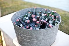 drink cooler http://www.weddingchicks.com/2013/09/18/eclectic-spring-wedding/
