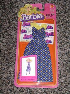 #2768 - BARBIE BEST BUY FASHIONS - (c) 78 w/booklet - Cotton navy w/yellow dress