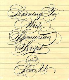 spencerian script by Barbara Calzolari, via Flickr