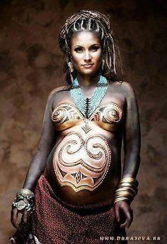 goddess priestess earth mother dreads body paint