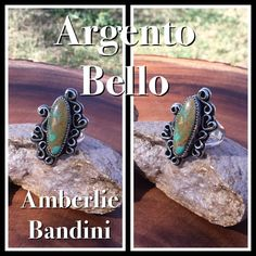 Argento Bello by Bandini. Hachita turquoise and a little hidden love.