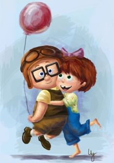 I love you like Ellie loves Mr. Frederickson. Cute Valentines day card?