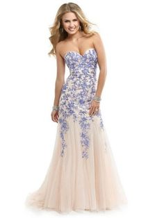 A-line/Princess Sweetheart Beading Applique Sweep/Brush Train Tulle Lace Prom Dress - Long Evening Dresses - Evening Dresses - Prom Diary