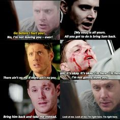 Moments like this when it's clear that Sam&Dean would do ANYTHING for each other is the reason I'm hooked on Supernatural.