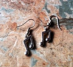 Musical Note Earrings, Musical Note Dangle Earrings, Drop Earrings, Handmade Earrings, Ladies Easrrings, Birthday Gifts, Gifts For Her, by SpryHandcrafted on Etsy
