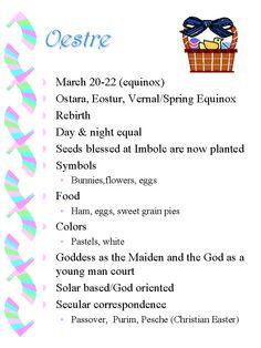 Spring Equinox:  #Oestre.