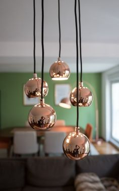 Austin Cluster Pendant, Copper | made.com