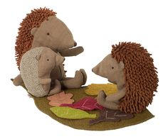 Maileg hedgehog family