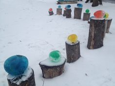 Colored Ice Sculptures | Daily Living Brief