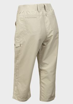 LADIES LIGHTWEIGHT QUICK DRY BEIGE CROPPED WALKING TROUSERS ONLY £7.99 FREE P&P #Unbranded