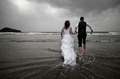 Trash the dress on the beach!