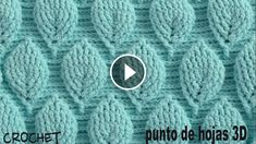 Today I want to share with you another beautiful crochet blanket tutorial. The pattern of this crochet blanket is really beautiful and easy to make.Learning new crochet stitches is always a fun way to get inspired. The crochet leaf stitch I'm showing Crochet Leaf Patterns, Crochet Leaves, Stitch Patterns, Knitting Patterns, Crochet Bag Tutorials, Diy Crafts Crochet, Crochet Videos, Fabric Crafts, Crochet Projects