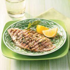 grilled tilapia with lemon basil vinaigrette