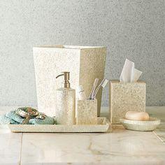 Capiz Shell Bath Accessories