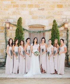 blush pink bridesmai