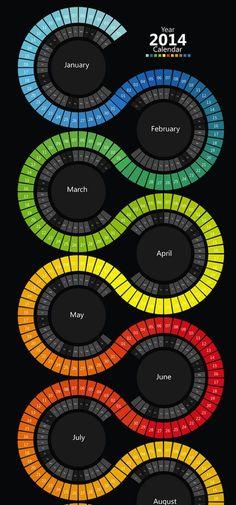 Awesome Showcase of Creative 2014 Calendar Designs: