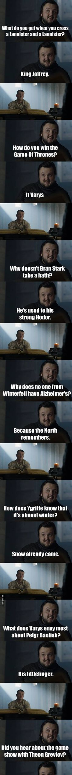 Best 21 Sam's jokes from Game of Thrones S6 Finale