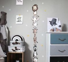 The whole savannah gang, with five fun animals these wall stickers will add a quirky touch to a nursery or child's bedroom. The best wall stickers we've ever Baby Bedroom, Kids Bedroom, Wall Transfers, Dream Friends, Beautiful Wall, Cool Walls, Scandinavian Style, Savannah Chat, Wall Stickers