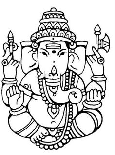 ganesh ji tracing patterns - Craftziners