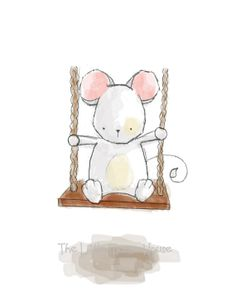 Little mouse on a swing