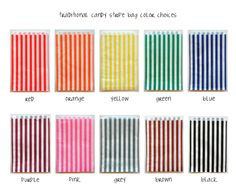 Set of 150  Traditional Sweet Shop Candy Stripe by InTheClear, $20.90