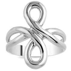 Large Infinity Ring in Sterling Silver door MarshellysJewelry, $42.00