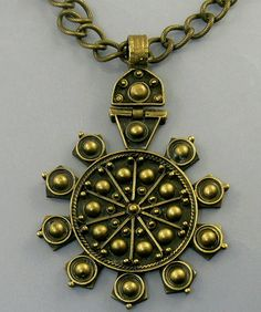 #Vintage Tribal Bronze Pendant Necklace #jewelry by jujubee1.etsy.com  on Etsy, $32.00