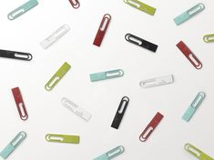 DATA clip. USB flash drive in the shape of a paperclip. Attach to documents. for Elecom via nendo