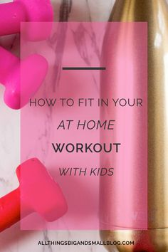 Being a mom is hard. You are constantly time-pressed and being dragged in literally a million directions. But you still need to make time for yourself and to workout for your own health--physical and mental. Here are my top 5 tips for fitting in daily workouts with kids at home without equipment or a babysitter. Click through to read what has worked for me with a toddler and a baby at home!