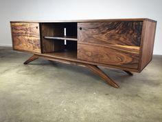 mid century modern credenza solid walnut mid century modern furniture handmade furniture
