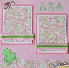 AKA scrapbook page