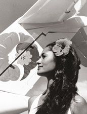 She is Model of Hawaiian Airline logo!!