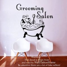 Wall Decals Grooming Salon Decal Vinyl Sticker Dog Pet Shop Home Decor Interior Design Bedroom Window Hall Art Mural Ah8 ** Check out the image by visiting the link. (This is an affiliate link) #WallStickersMurals