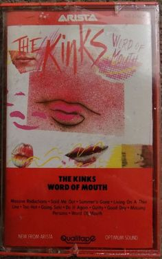 """NEW 1984 THE KINKS """"WORD OF MOUTH"""" ARISTA AC8-8264 DOLBY SYSTEM CASSETTE TAPE #PopRock1980s"""