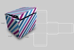 card box template generator - hinged lid shoe box shape free box templates to download