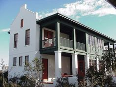 The Hideaway Cottage featuring Rosemary Beach's Charleston architecture. Southern Architecture, Rosemary Beach, West Indies, Beach Cottages, Charleston, Swimming Pools, Exterior, Windows, Mansions