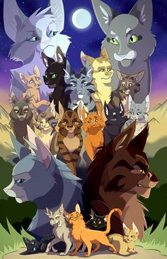 Found this cool Warrior cats fanart on Facebook. Drawn by Tennelle Flowers.
