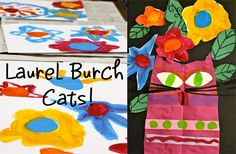 Deep Space Sparkle blog - so many amazing ideas for Art Project! Here: Laurel Burch Cats